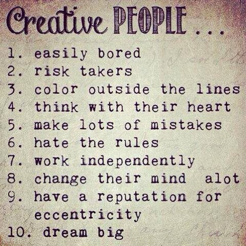 Creative people are....  #art #artists #Creative #creativity #people #DREAMER https://t.co/lSg9cxwmiS