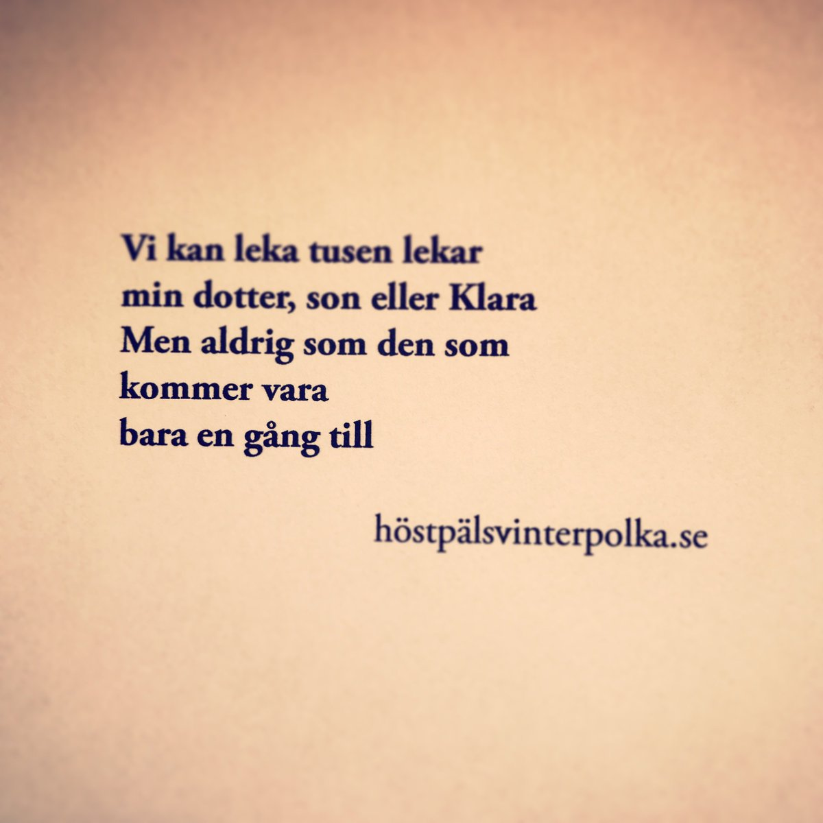 poesi om livet