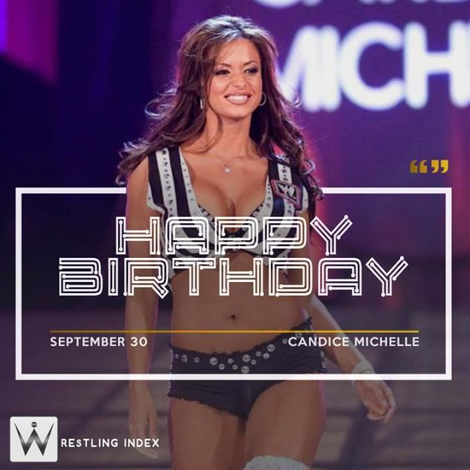 Happy Birthday to the former WWE women\s champion CANDICE MICHELLE. .