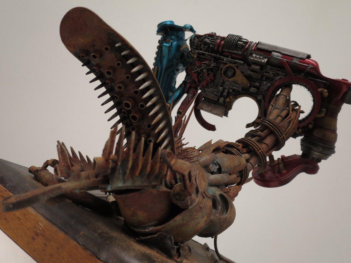 鬼頭栄作( @e_kitoh )さんのSICキカイダー作例   機械召喚士  この作品を下から眺めたかった。想像を超えたカッコ良さ。  #ナゴモ #ナゴモ6