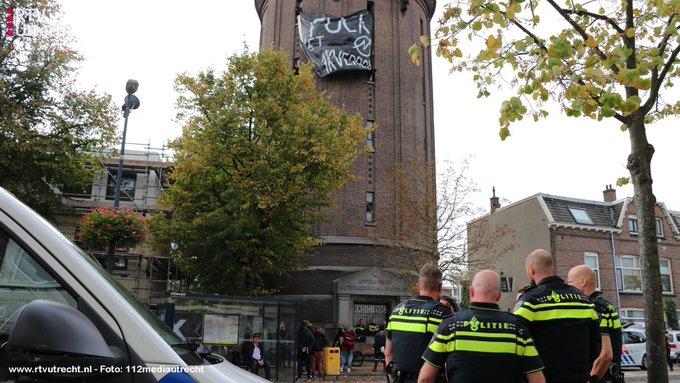 Mislukte kraakpoging watertoren Amsterdamsestraatweg