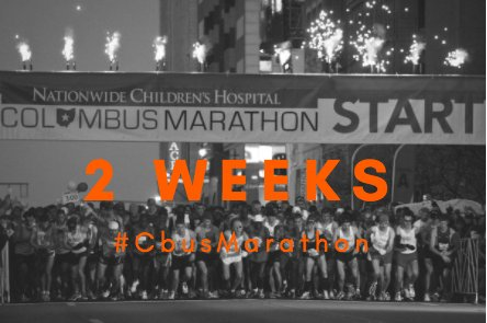 2 WEEKS. Get excited! #CbusMarathon https://t.co/ZwNd8d9ZZ7