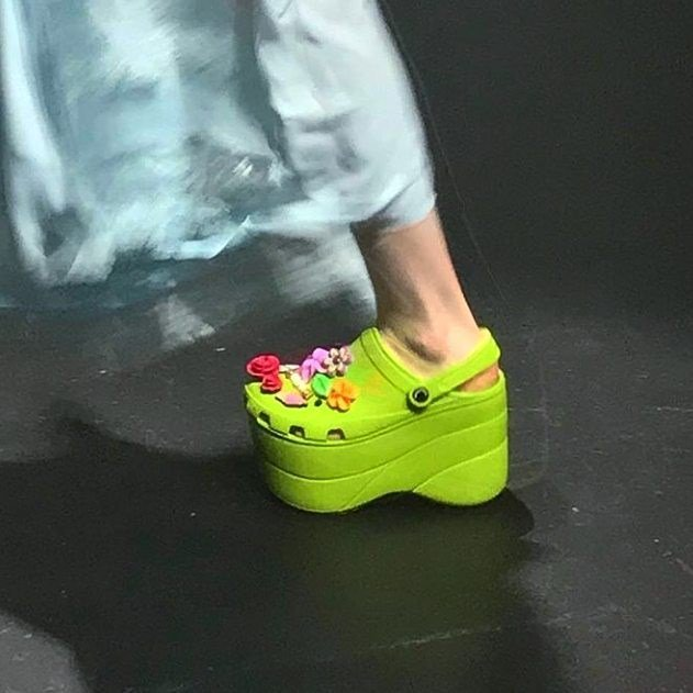 ea22fb9b777 Balenciaga sent platform Crocs down the runway