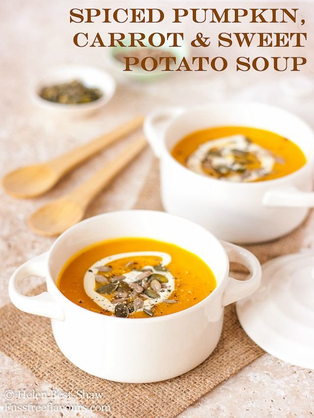 Spiced Pumpkin, Carrot & Sweet Potato Soup - delicious all year round!  https://t.co/hZy9qcnwtw https://t.co/02r3OobQri