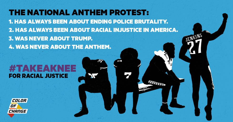What is #TakeAKnee about? https://t.co/bsRAm6l9Ry