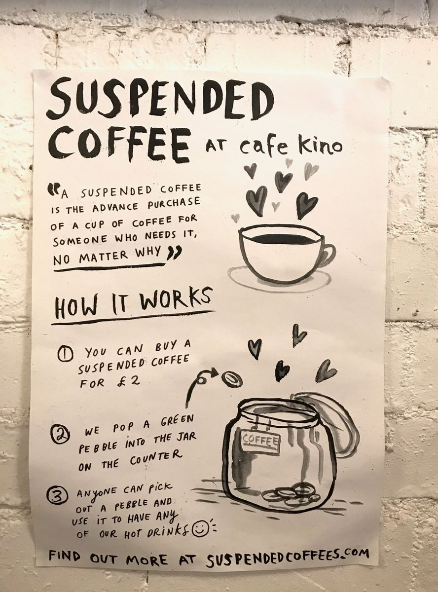 One of the best ideas I've come across (ever). Every cafe should do this. Pls RT @SuspendedCoffees #ArtOfBreathing https://t.co/hi2RMyG6SN