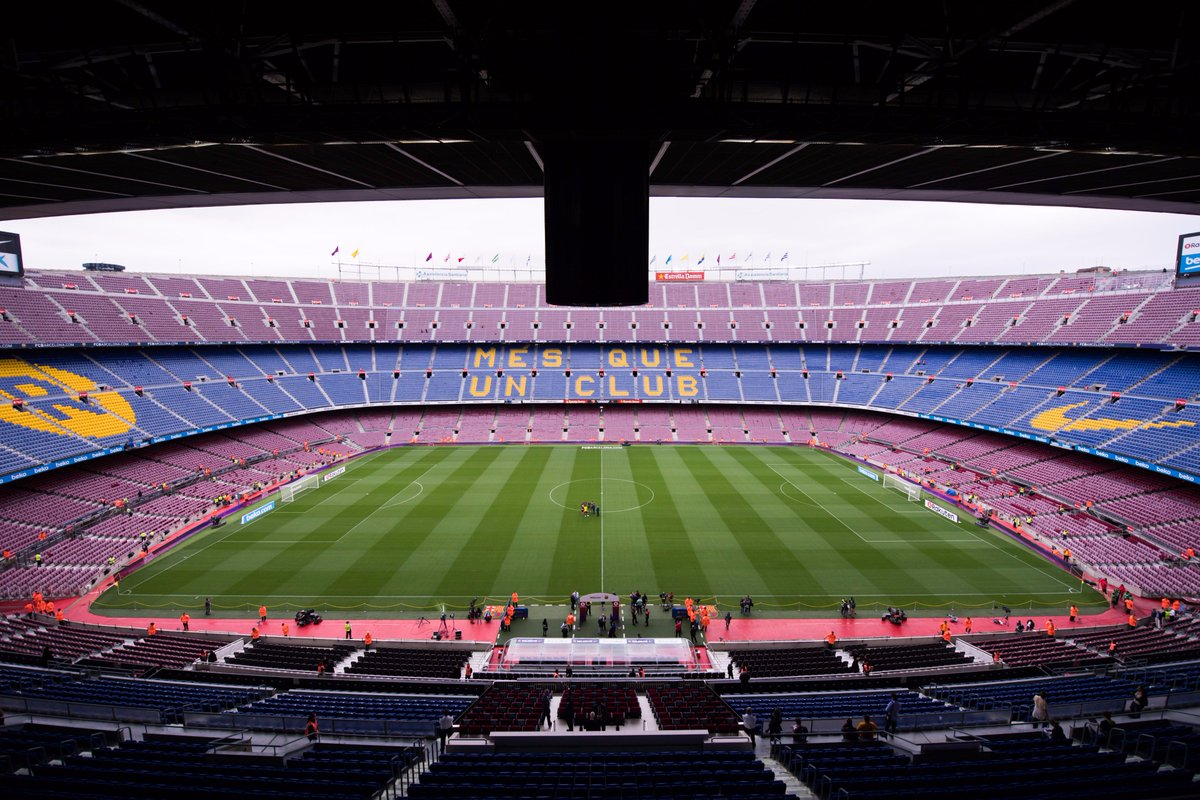 Ben hayward on twitter the camp nou europes biggest stadium ben hayward on twitter the camp nou europes biggest stadium empty a game that should not have been played a sombre symbol on a terribly sad day in biocorpaavc Choice Image
