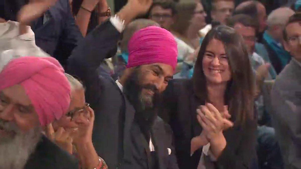 Jagmeet Singh wins NDP leadership race, crowd goes wild
