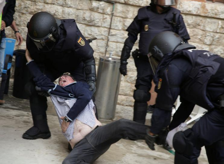 "Violence erupted ahead of Catalonia's ""illegal referendum"" on independence from Spain; at least 460 people were injured in clashes with police."
