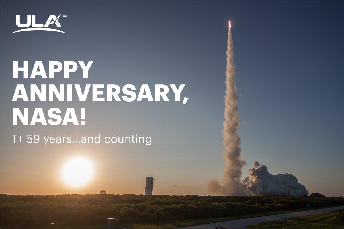 Wishing @NASA a very happy 59th anniversary. https://t.co/gg0hQycQb8