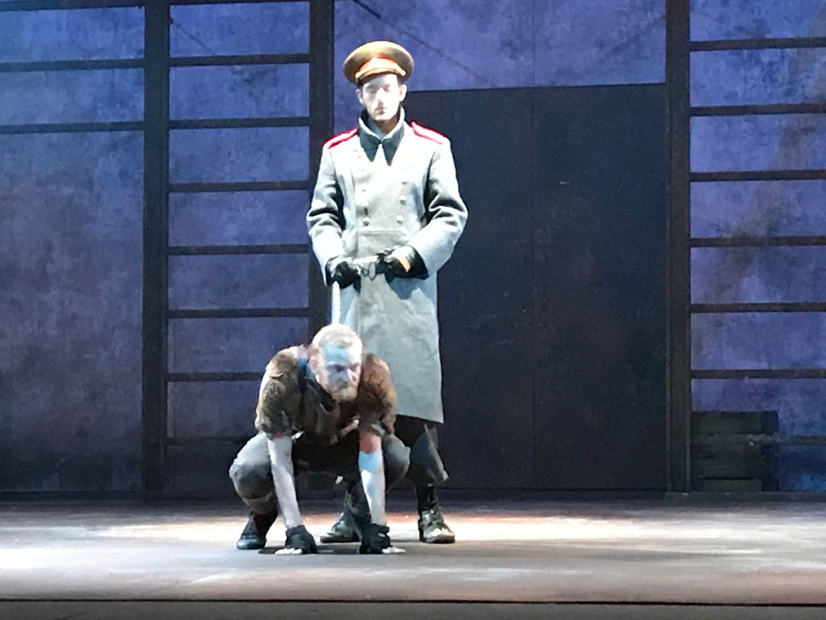 Kirsty Lang On Twitter Astonishing Central Performance By Drama Grad Max Keeble As A Guard Dog In Faithfulruslan Citizenstheatre Glasgow