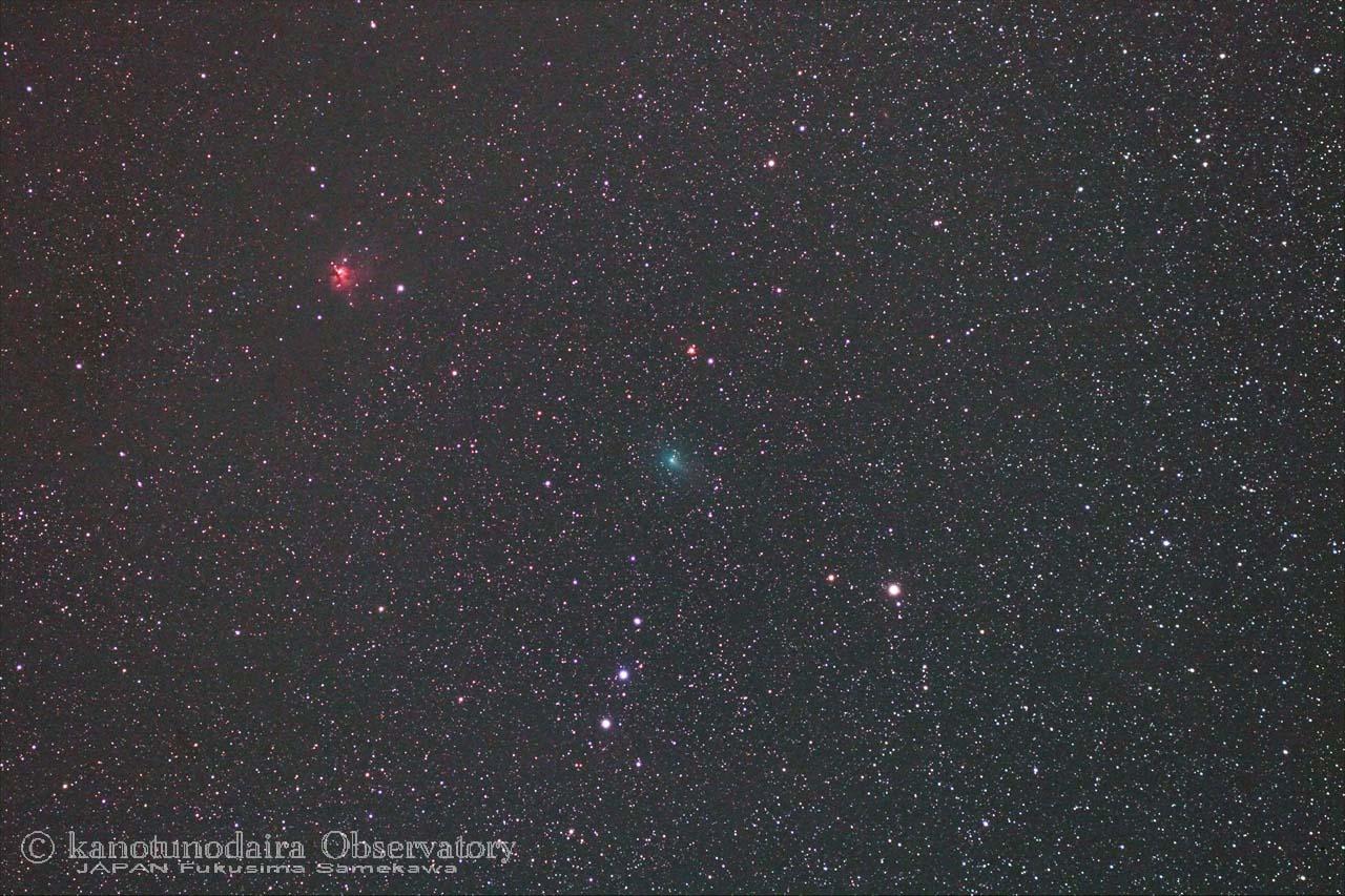 ASASSN彗星(C/2017 O1)とSh2-222