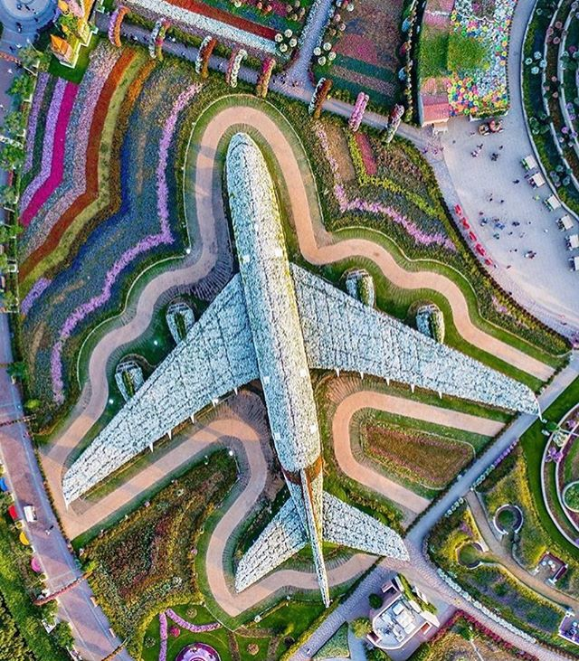 Installation in Dubai's Floral Miracle Garden by @emirates ____________________ Check @artdiscovered to discover more great art https://t.co/AWNtc1h6K2 1