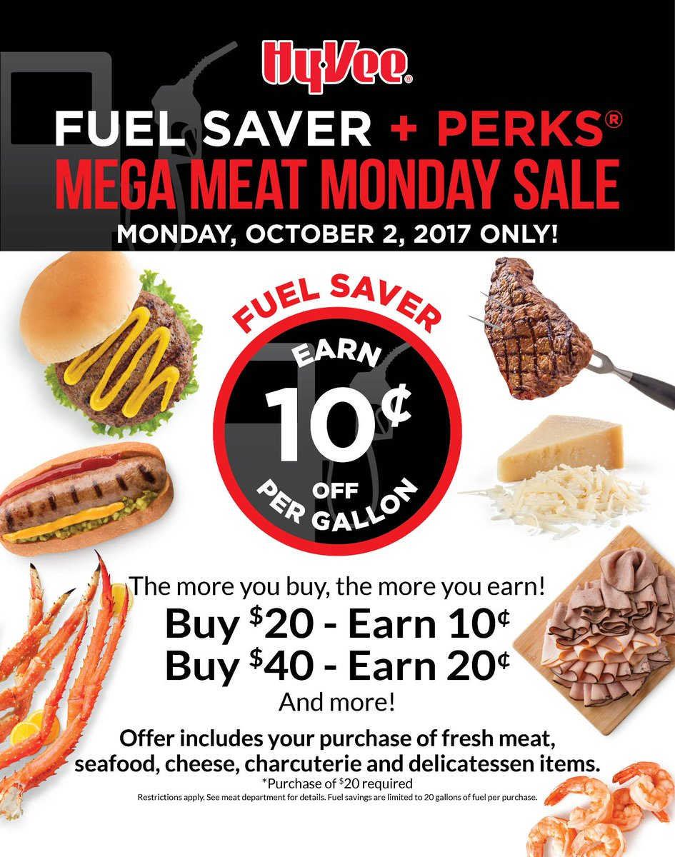 Our Mega Meat Monday Fuel Saver Sale is back!  Valid 10/2 only. Tell y...