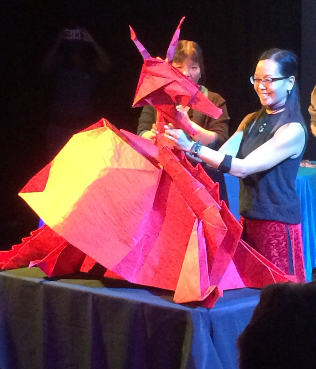 ABD Music On Twitter GIANT Origami Dragon Made ArtsCanmore By Tessa AlbertaCulture CanadasNAC