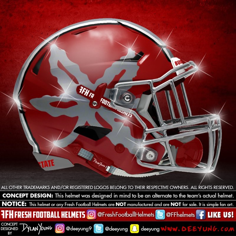 Ohio State Buckeyes alternative football helmet