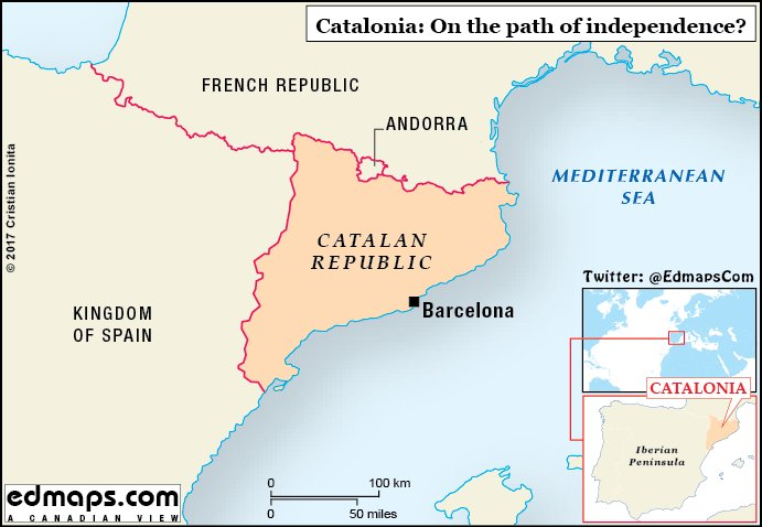 World Map Catalonia. Cristian Ionita on Twitter  CatalanReferendum Catalonia in seven maps for a better understanding of the Catalan question Puigdemont Rajoy