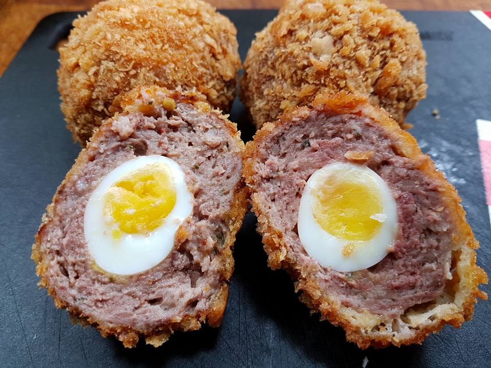 My Mini #Venison Scotch #Quail Eggs. Video coming soon to the #SRP #Wildharvest #Eatmoregame @tasteofgame @GametoEat #Quaileggs
