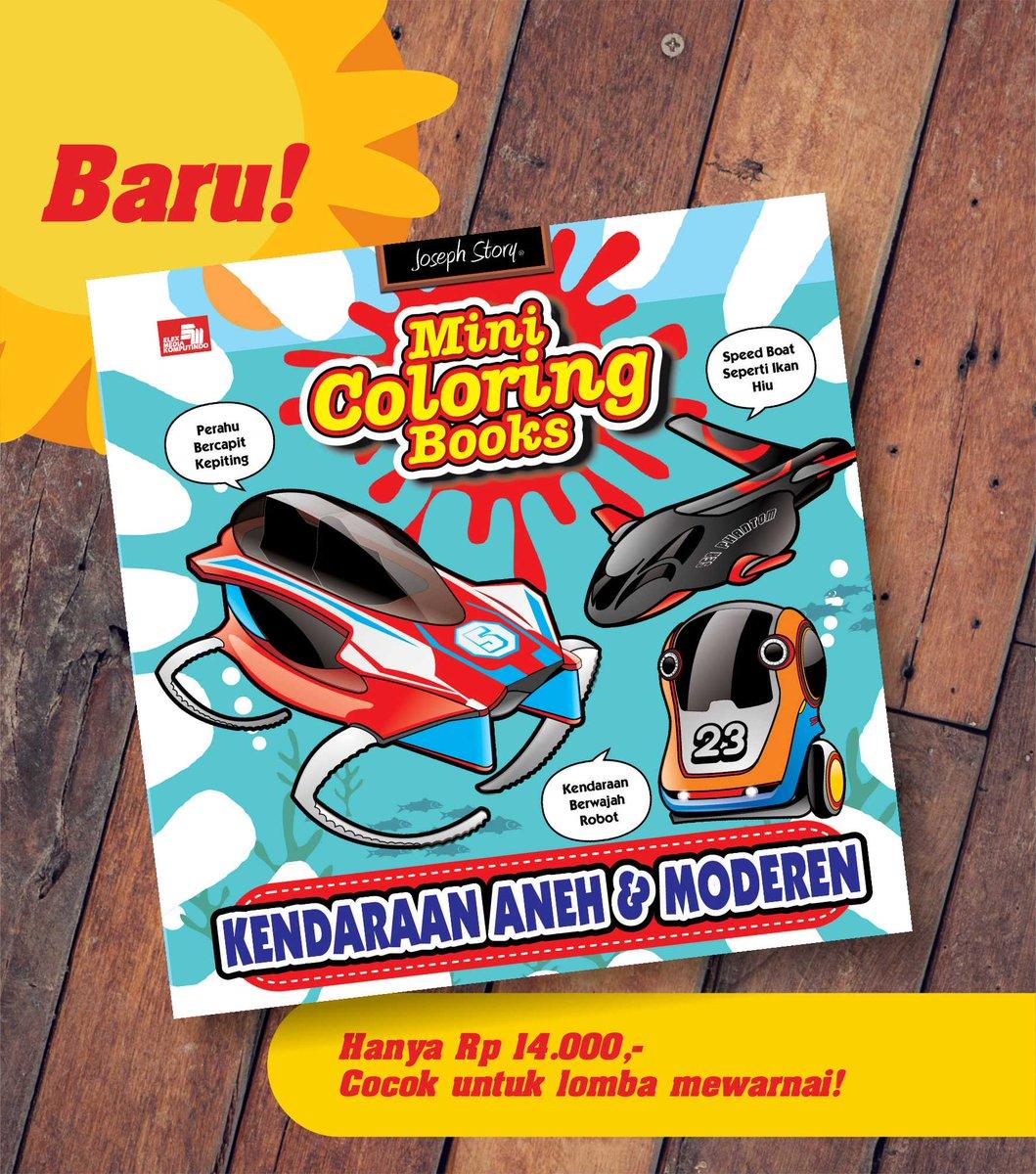 Ajak Anak Warnai Di Dalam Rumah Dengan Buku Mini Coloring Books Kendaraan Aneh Moderen Gramedia Elexmediapictwitter OplwfpUvu8