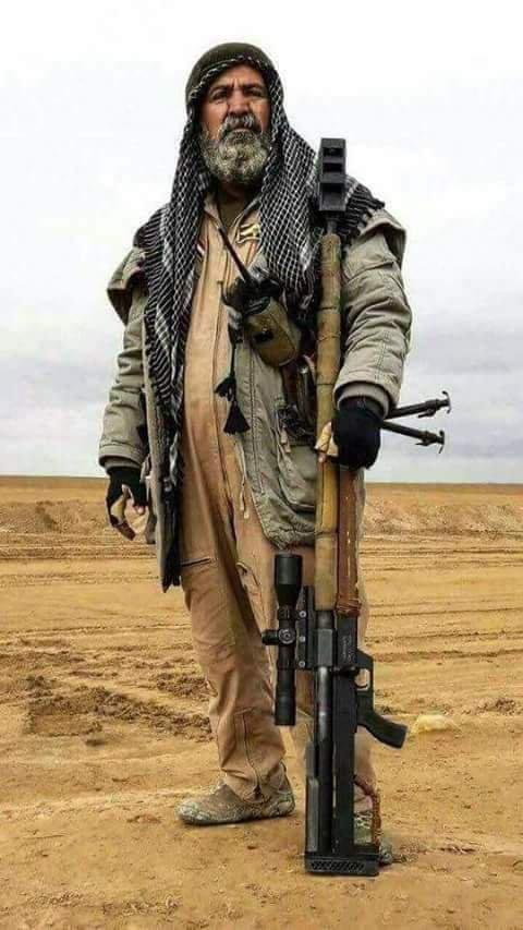 生前の姿カッコよすぎる  ベテラン狙撃手アブ・タフシン・サルヒ氏が死亡 ハウィジャ奪還作戦で #ldnews