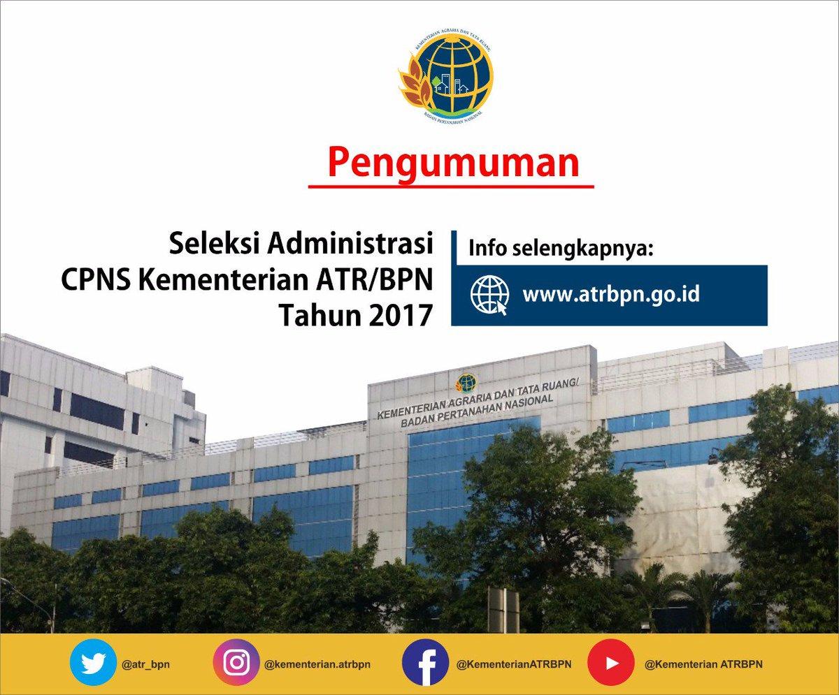 Pengumuman Cpns 2019 Atr Bpn Informasi Cpns Asn Indonesiainfo Cpns Asn Indonesia 2021