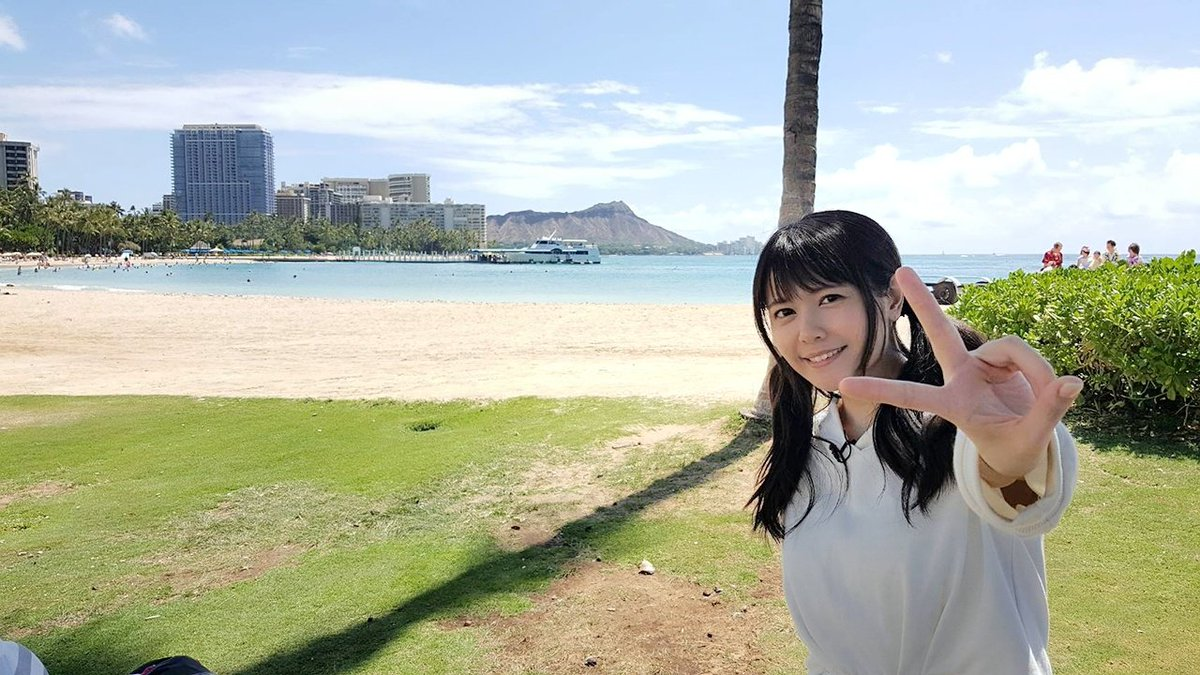 ハワイ!なう!!!☺とっても暑いよ☀ pic.twitter.com/QBJaBspog2