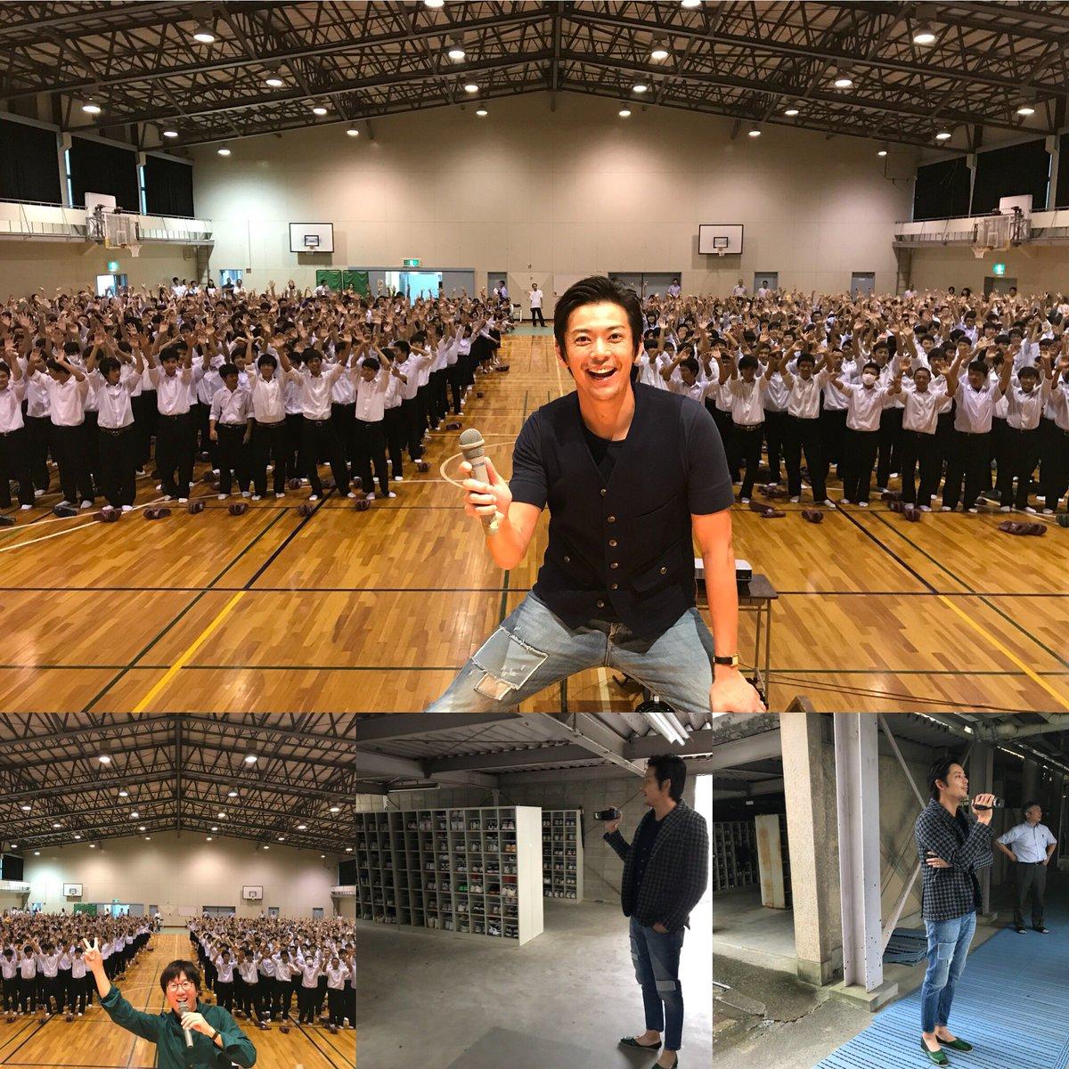 母校の大垣南高校で後輩達との楽しいひととき。 敦士も僕も、みんなにパワーもらいました! 南高!ありがとう! https://t.co/6WJlVja6yt