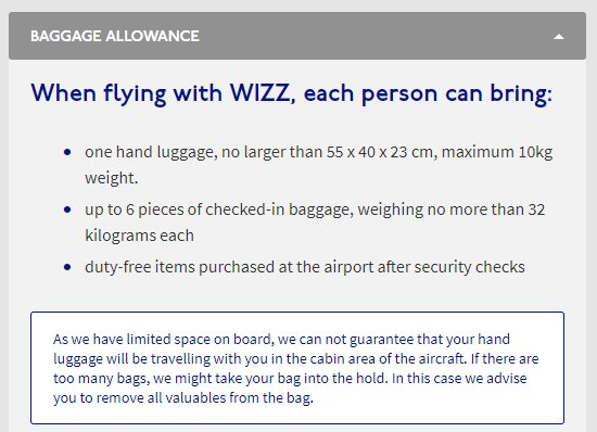 Wizz Air On Twitter Small Backpacks That Fit Under The Seats Will Not Be Taken Into Hold