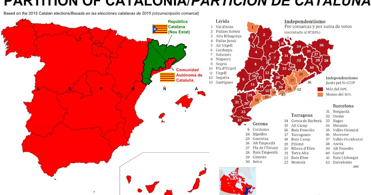 Map 24 Spain.Vivid Maps On Twitter Map Of Spain Without Catalonia Https T Co