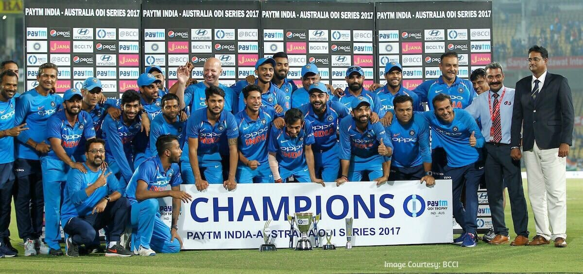 CHAMPIONS!👊 Congratulations to Team India on a phenomenal 4-1 series victory against Australia! 🇮🇳 #RPS #TeamIndia #INDvAUS