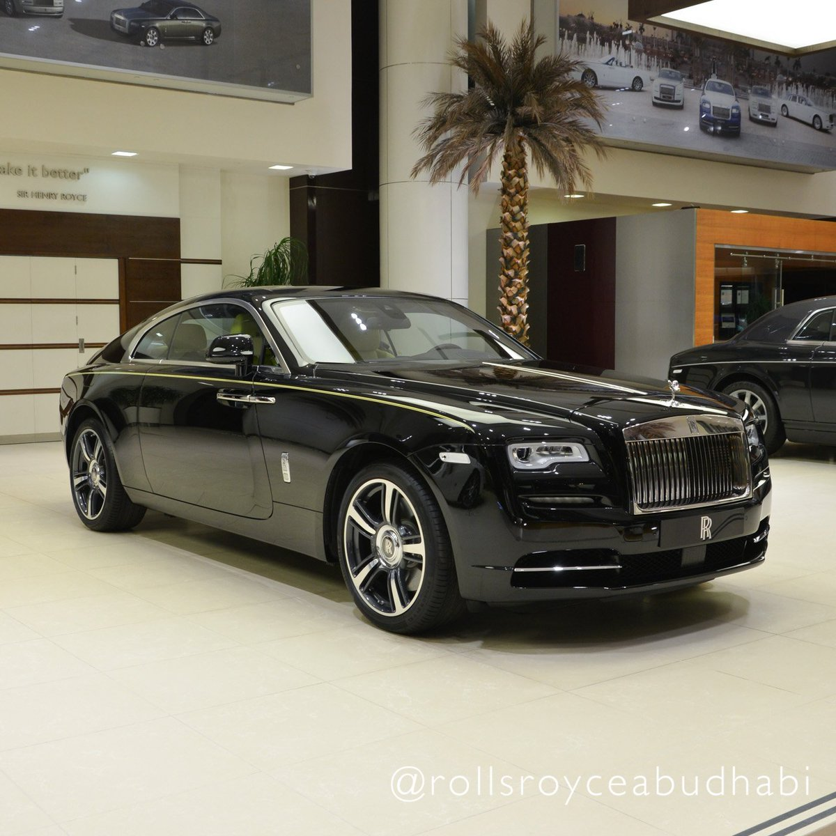 Rolls Royce Motor Cars Abu Dhabi On Twitter Rolls Royce Wraith With Main Exterior Colour In Diamond Black With Bespoke Interior In Lemon And Black Contrast Rollsroyceabudhabi Https T Co 4z2ogvrpd7