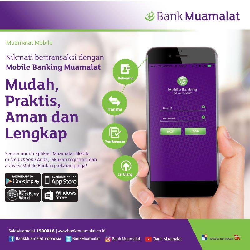 """Bank Muamalat on Twitter: """"Nikmati kemudahan bertransaksi ..."""