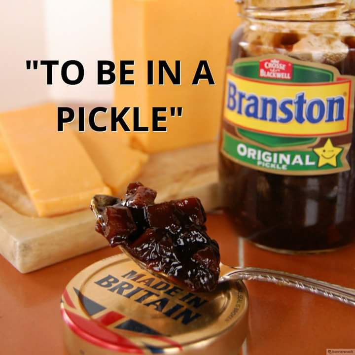 &quot;To be in a pickle&quot; Meaning: to be in a difficult situation #English #Idioms #LearnEnglish #ESOL #TEFL #TESOL #Idioms #EnglishIdioms #Branston @BranstonUK<br>http://pic.twitter.com/vSvst5O3cn
