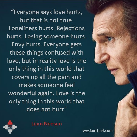 I Am 1 In 4 On Twitter Celebrity Quote Of The Day Liam Neeson