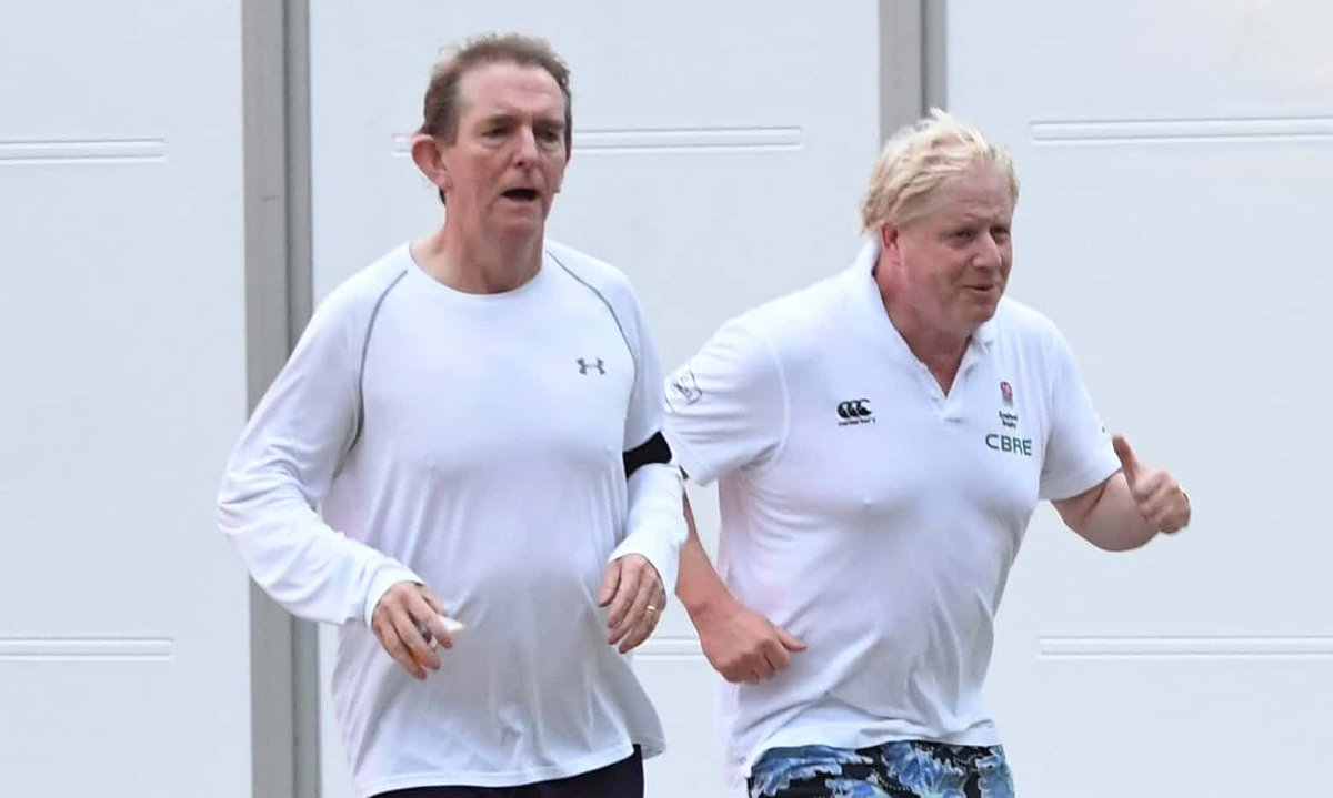 Foreign secretary out for a run with Sun editor at Tory party conference. Cosy club isn't it? https://t.co/Kd44OzjIn9