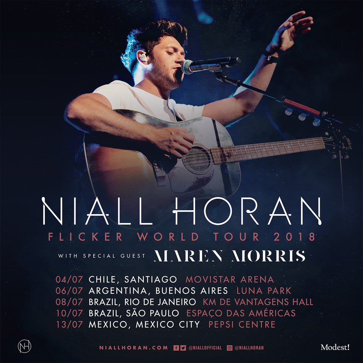 Mexico and South America , I'm bringing my Flicker World Tour to you in 2018 ! Looking forward to it !