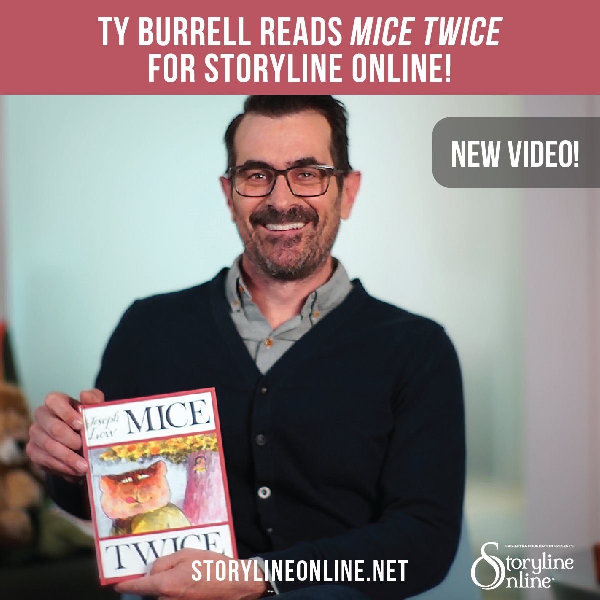 Watch Ty read MICE TWICE by #JosephLow: https://t.co/F3ZiVL7EHU…  https://t.co/UosapoZ6Xw""
