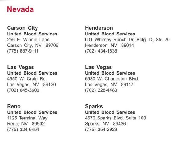Vegas is in need of blood donations. Go help if you can. https://t.co/diF7kQd0Ap