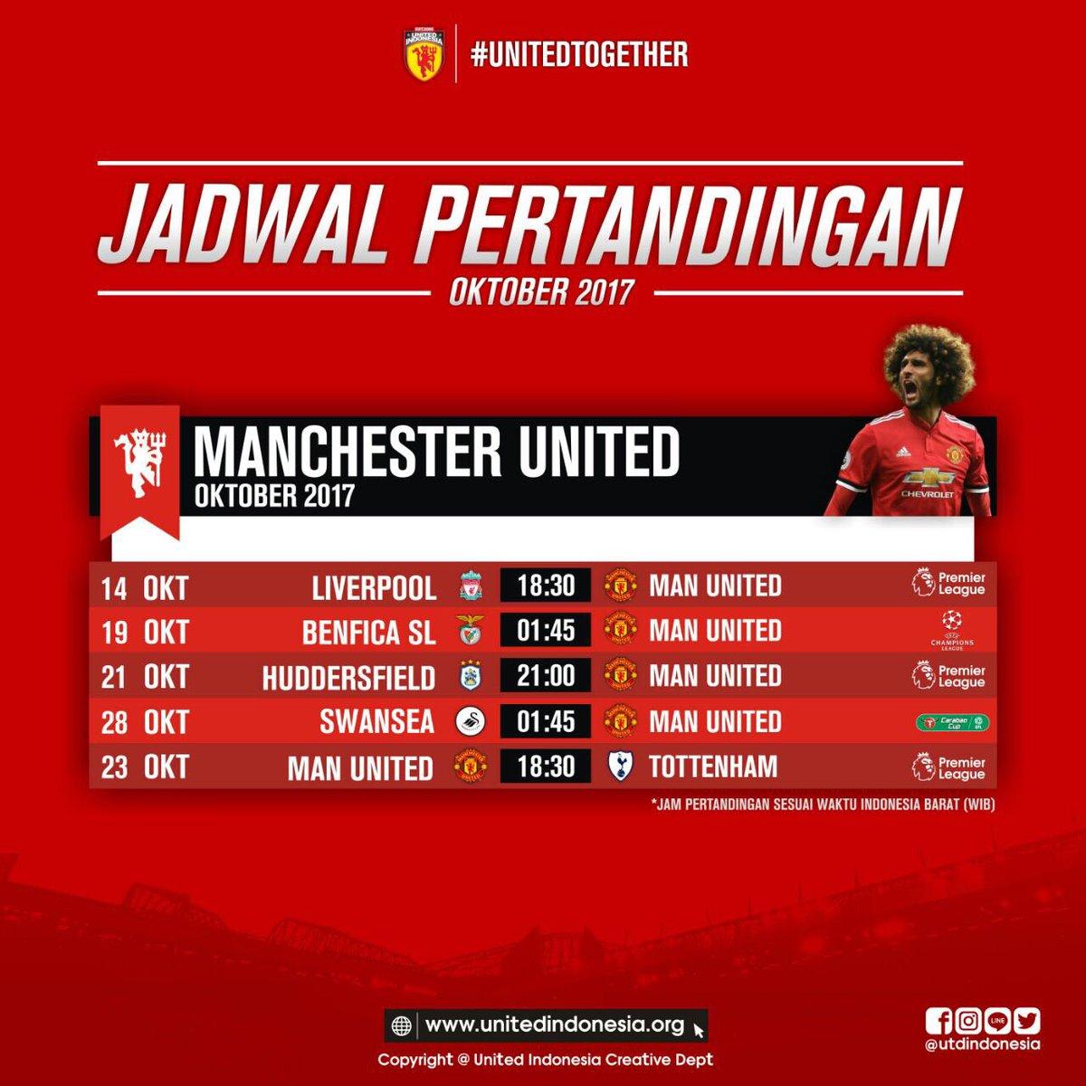 United Indonesia V Twitter Berikut Adalah Jadwal Pertandingan Manchester United Selama Bulan Oktober 2017 Jam Pertandingan Dalam Wib Utdindonesia Unitedtogether Https T Co Gc2u5eapax