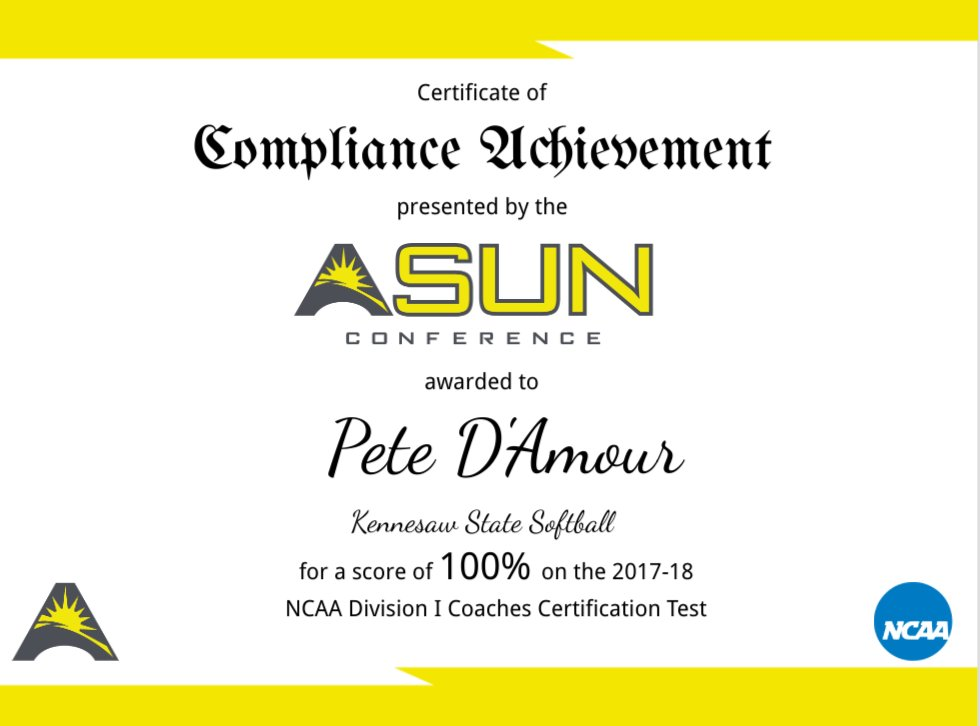 Asun Compliance On Twitter Congratulations To Pete Damour Of