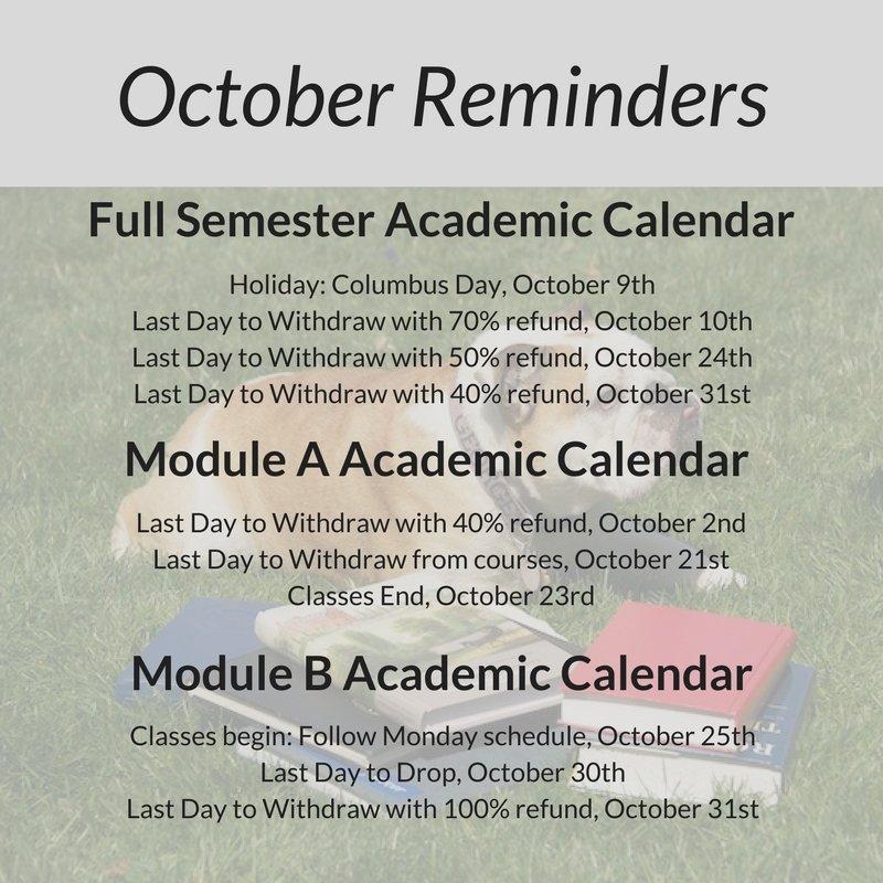 Academic Calendar Georgetown.Georgetown Sim On Twitter Happy October Sim Students Here Are A