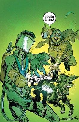 そんなセクション・エイトの戦いが終わり、これまたしばらく後、新シリーズSIXPACK AND DOGWELDERが開始しました。シックスパックと共に、犬溶接マンも主人公化。これでもう、スーパーマンやバットマンと同格だ!