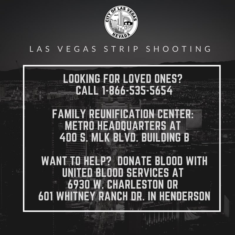 How to help and find loved ones. Please share #PrayforLasVegas