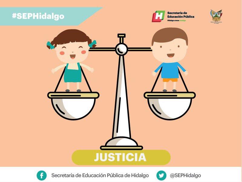 """Frases Infantiles Sobre El Valor De La Justicia En El Mundo: SEP Hidalgo On Twitter: """"La #justicia Es Un Valor Que"""