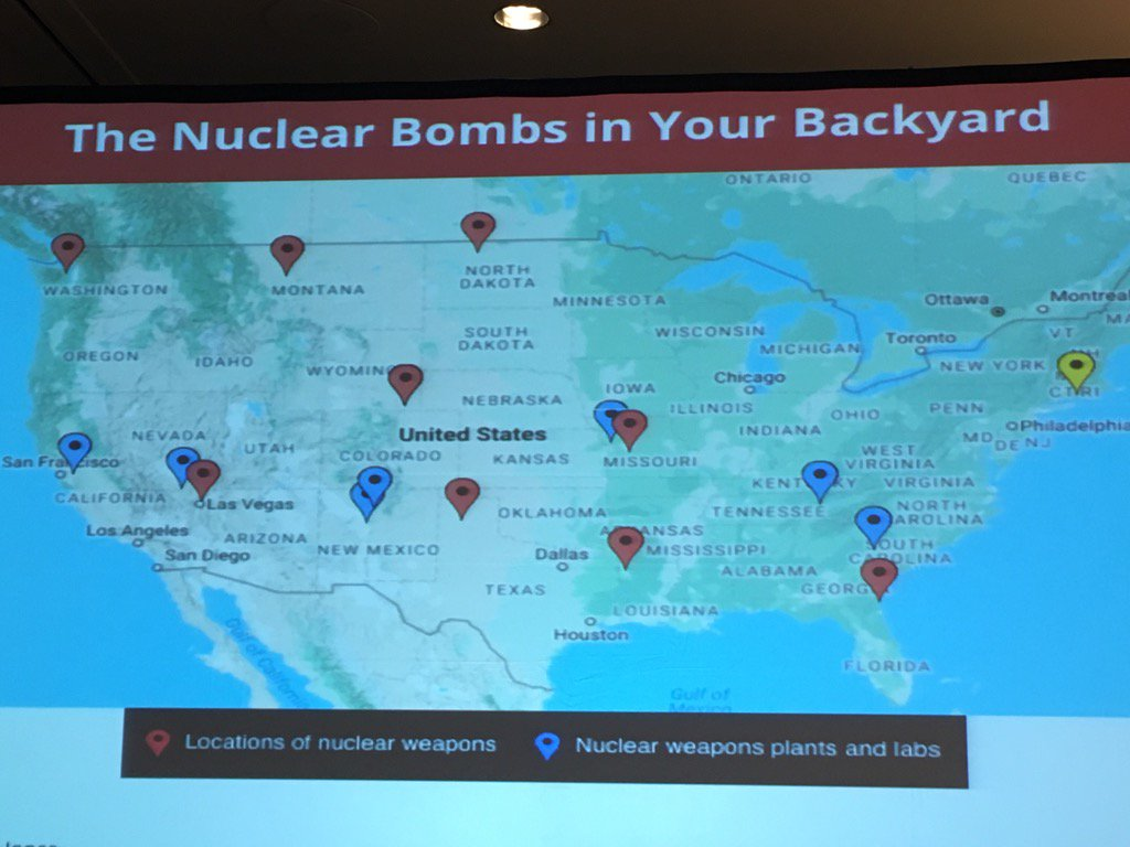 Phyllis Kahn On Twitter A Scary Map Of Nuclear Weapons In The Us - Us-nuclear-arsenal-map