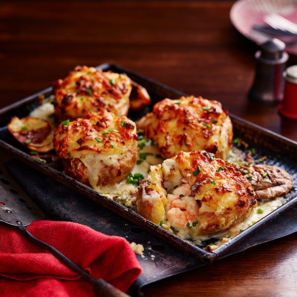 Fish pie jacket potatoes are here and they're just SO good. Get the recipe in our new October issue, out now! https://t.co/BxZeQ96S9z