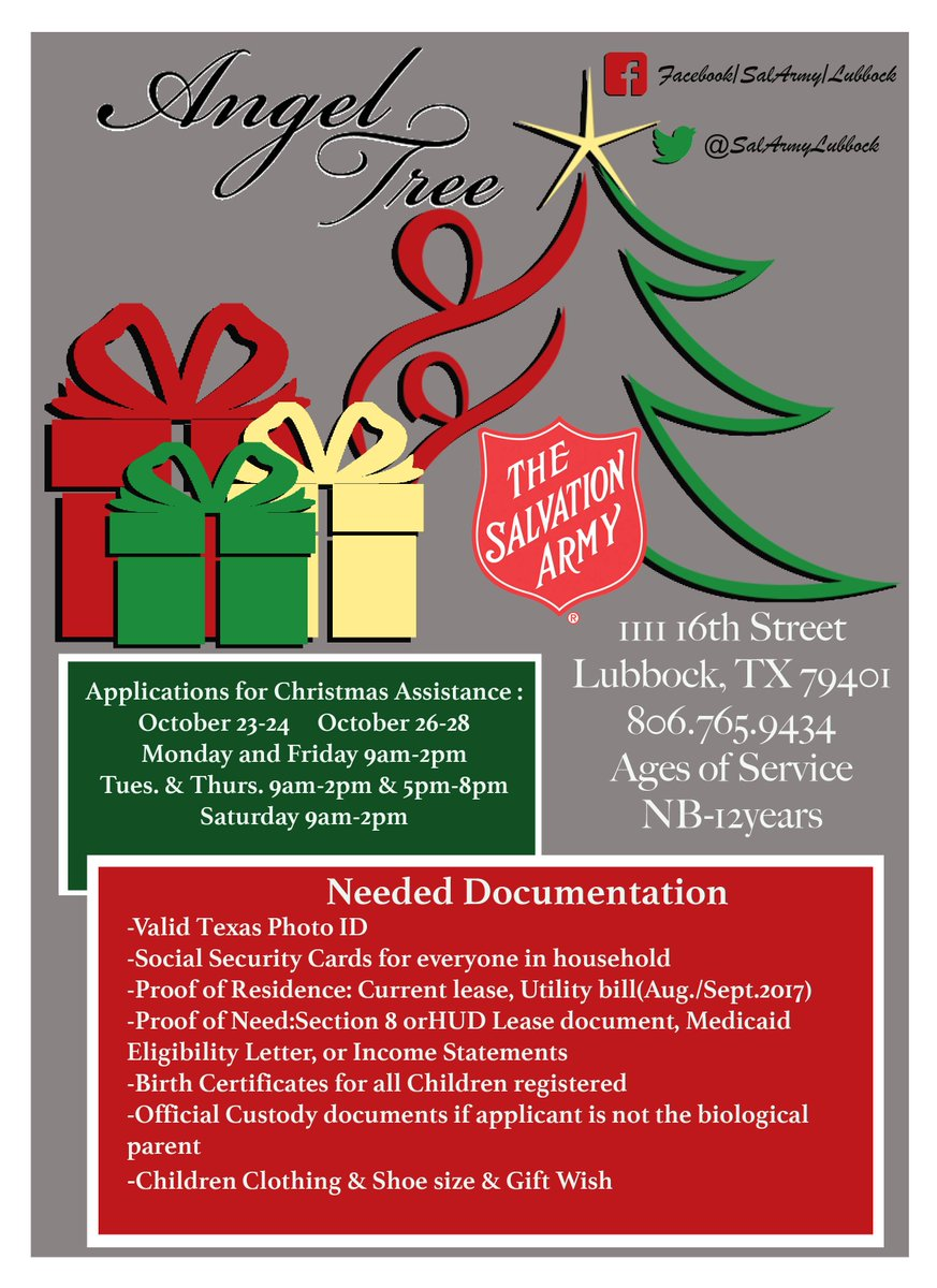 Salvation army lbk on twitter here is the information for the salvation army lbk on twitter here is the information for the 2017 lubbock angel tree httpstnqittrvsn5 aiddatafo Gallery