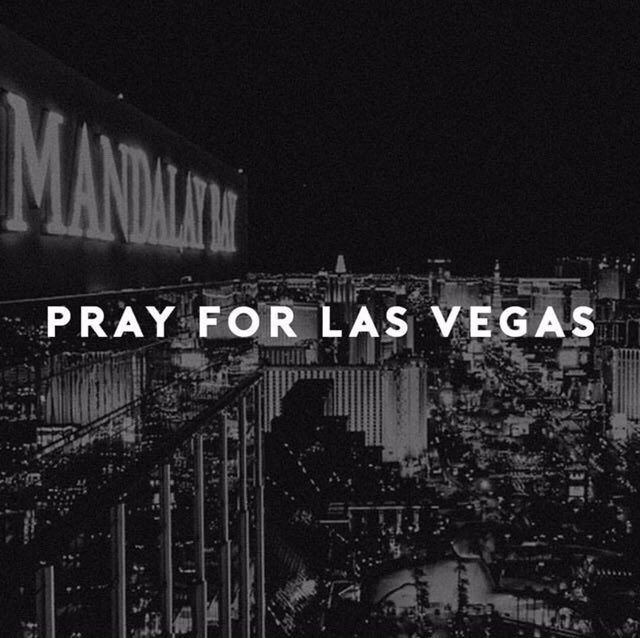 We have no words. What a senseless act of violence. Praying for the world. We love you, Vegas. https://t.co/0T81Vnz5Ax
