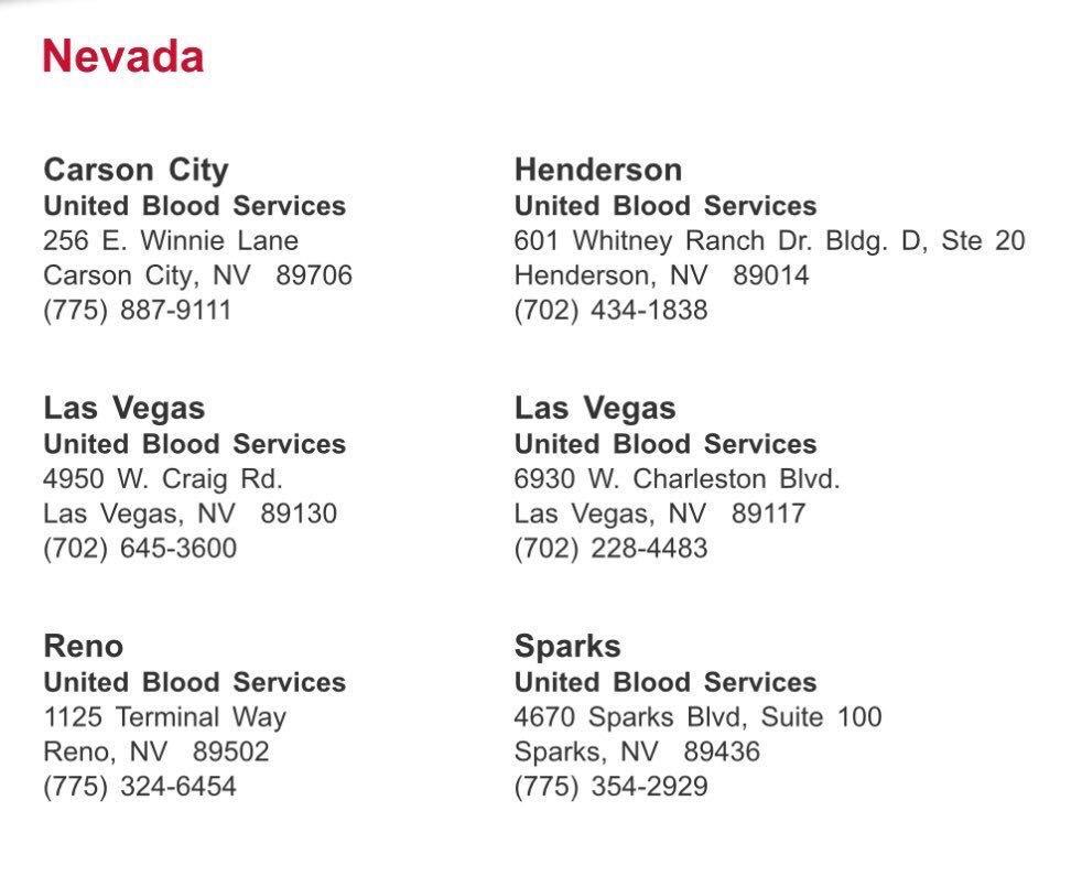 RT @JLo: Blood donation centers below #LasVegas https://t.co/O9InGWW3P9