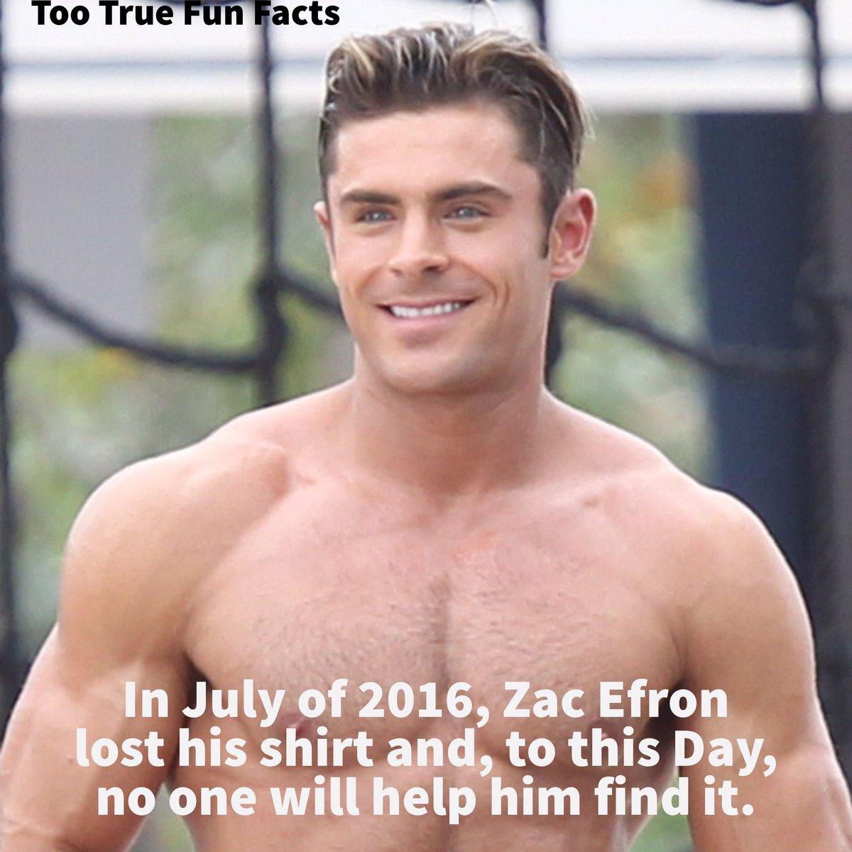 Celebrity Fun Fact. #zacefron #actors #actor #actorslife #disneychannel #shirt #shirtless #comedy #funny #meme #memes #parody #satire #lol<br>http://pic.twitter.com/84G3LwDvZC